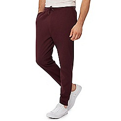 Red Herring - Big and tall dark red jogging bottoms