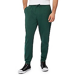 Red Herring - Big and tall dark green jogging bottoms