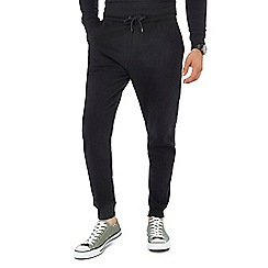 Red Herring - Big and tall black jogging bottoms