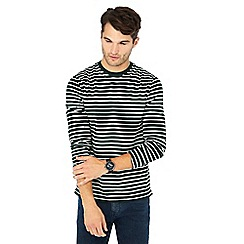 Red Herring - Green stripe print long sleeve cotton slim fit top