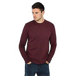 Red Herring - Dark red striped top