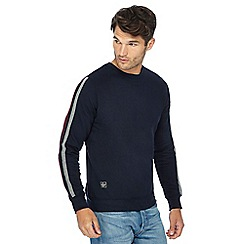 Threadbare - Navy arm stripe sweater