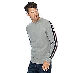 Threadbare - Grey arm stripe sweater