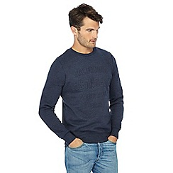 Threadbare - Navy embossed sweater