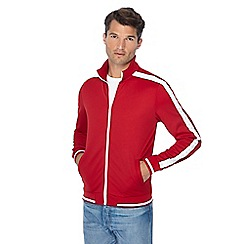 Threadbare - Red arm stripe funnel neck track jacket