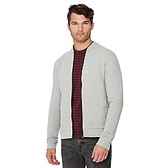 Red Herring - Grey ribbed cotton rich bomber jacket