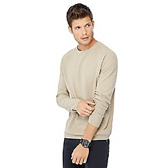 Red Herring - Fawn seed stitch crew neck jumper