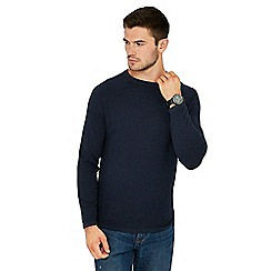 Red Herring - Dark blue link knit crew neck jumper