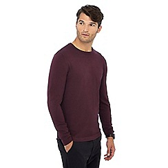 Red Herring - Wine crew neck jumper