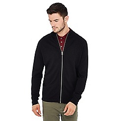 Red Herring - Black zip-through jacket