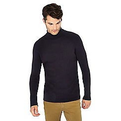 Red Herring - Black ribbed long sleeve roll neck top