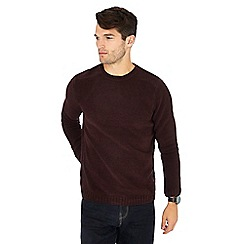 Red Herring - Maroon chenille crew neck jumper