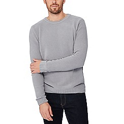 Red Herring - Big and tall grey chenille jumper