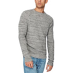 Red Herring - Grey waffle twist knit jumper