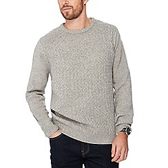 Red Herring - Grey checkerboard knit jumper