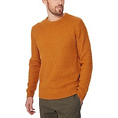 Red Herring - Mustard chevron knit jumper with wool