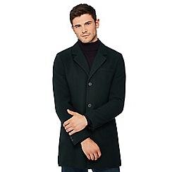 Red Herring - Dark green wool blend Epsom coat