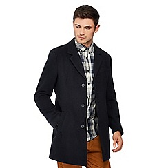 Red Herring - Navy wool blend epsom coat