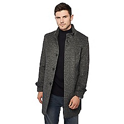 Red Herring - Dark grey collared Epsom coat with wool