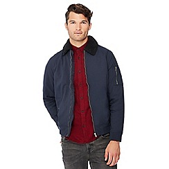 Red Herring - Navy borg collar jacket