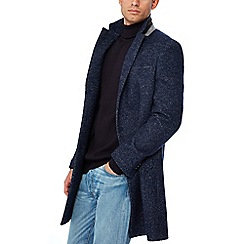 Red Herring - Navy herringbone Epsom coat with wool