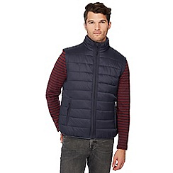 Red Herring - Big and tall navy padded gilet