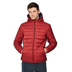 Red Herring - Big and tall red hooded padded jacket