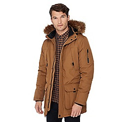 Red Herring - Tan faux fur hood parka