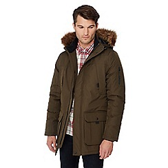 Red Herring - Big and tall khaki faux fur hood parka