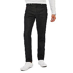 Red Herring - Black dark wash tapered fit jeans