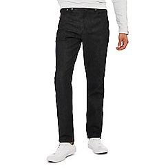 Red Herring - Black dark wash tapered fit jeans