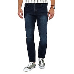 Red Herring - Big and tall dark blue mid wash slim fit jeans