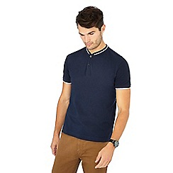 Red Herring - Navy cotton baseball polo shirt
