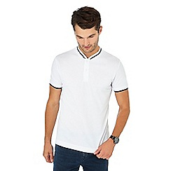 Red Herring - Big and tall white cotton baseball polo shirt