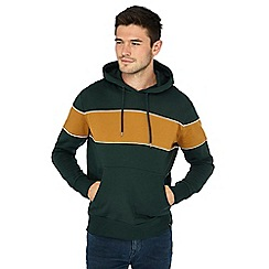 Red Herring - Dark green block stripe hoodie
