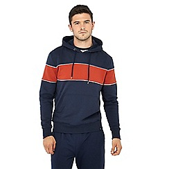 Red Herring - Navy block stripe hoodie