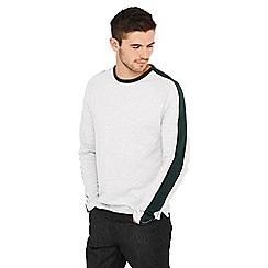 Red Herring - Grey stripe sleeve cotton t-shirt