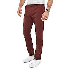 Red Herring - Dark red slim fit chino trousers