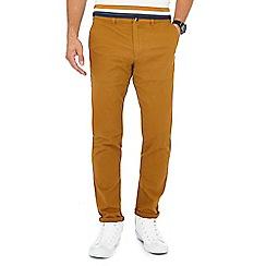 Red Herring - Mustard slim fit chino trousers