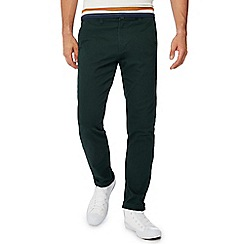 Red Herring - Big and tall dark green slim fit chino trousers