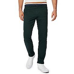 Red Herring - Dark green slim fit chino trousers