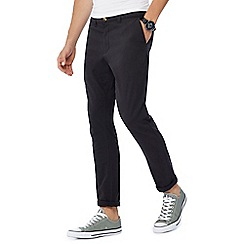 Red Herring - Big and tall black skinny fit chino trousers