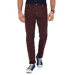 Red Herring - Dark red slim fit jeans
