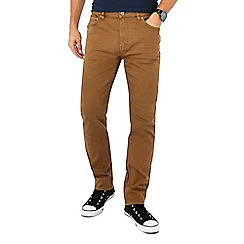Red Herring - Dark tan slim fit jeans