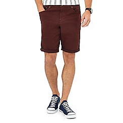 Red Herring - Wine twill shorts