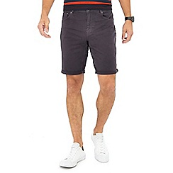 Red Herring - Dark grey twill shorts