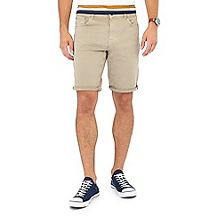 Red Herring - Natural twill shorts
