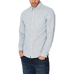 Red Herring - Green basket weave long sleeves slim fit shirt