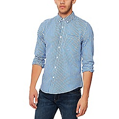 Red Herring - Blue gingham long sleeves slim fit shirt