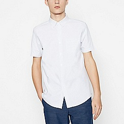 Red Herring - White Cotton Spotted Short Sleeve Slim Fit Shirt